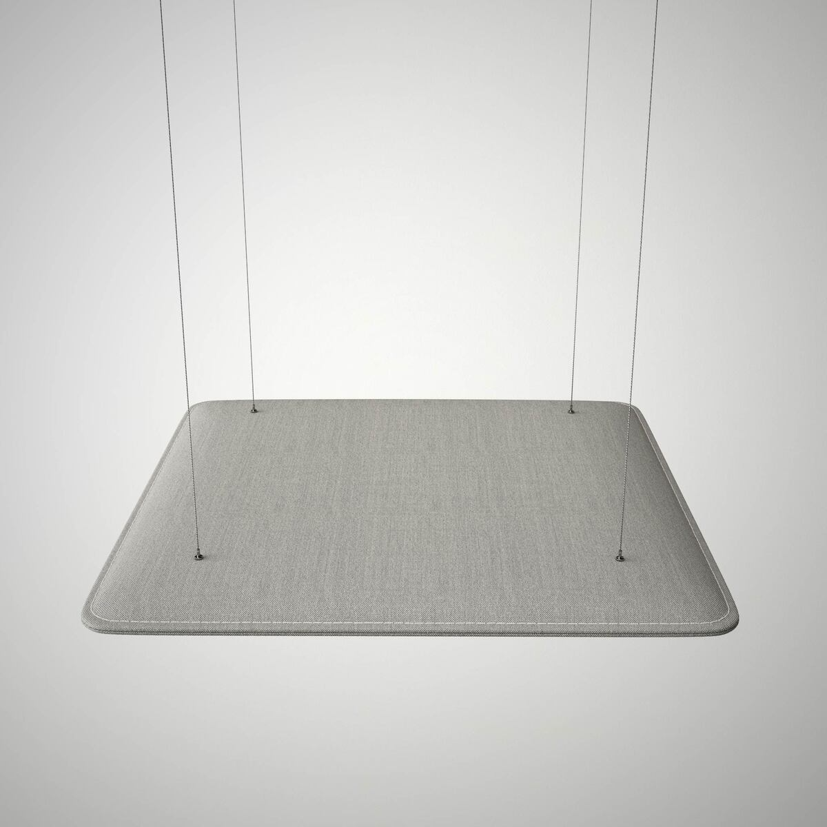 Ceiling suspension system with plasticized steel cable