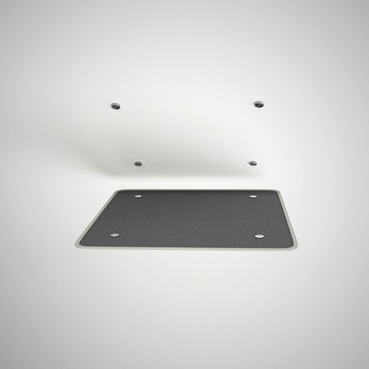 Ceiling adherence system with magnets.