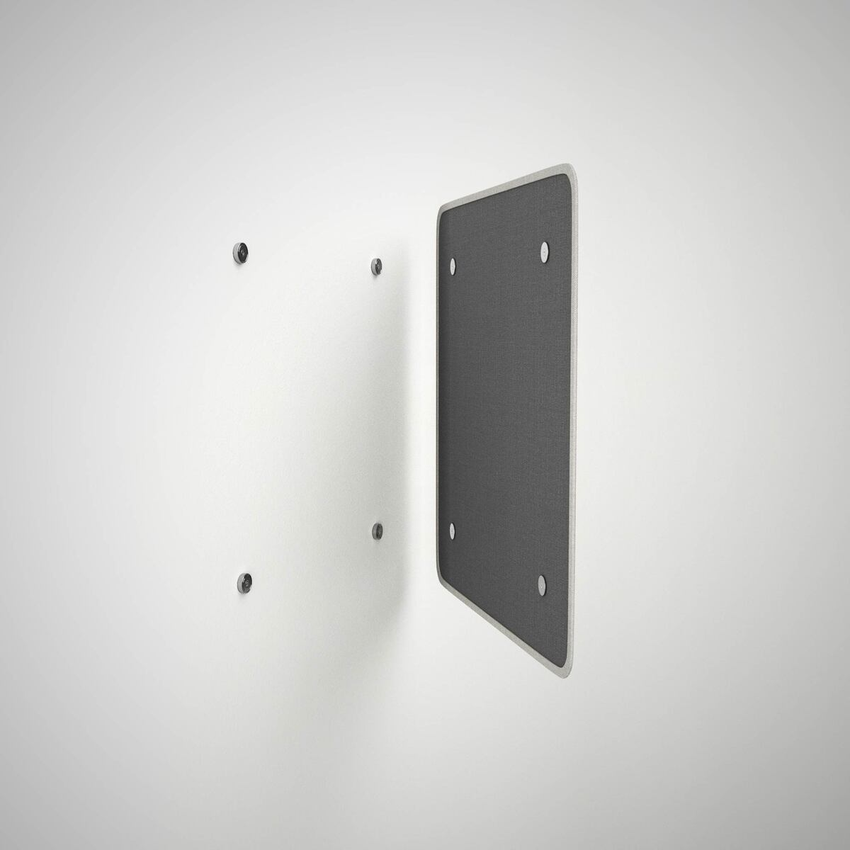 Wall adherence system with magnets.